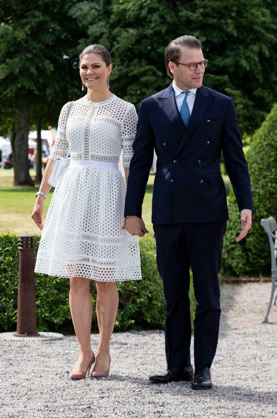 La princesse Victoria et le prince Daniel de Suède à Strömsholm, le 6 juin 2018