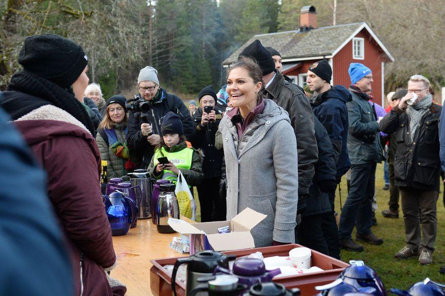 La princesse Victoria de Suède dans le Wärmland, le 17 novembre 2017