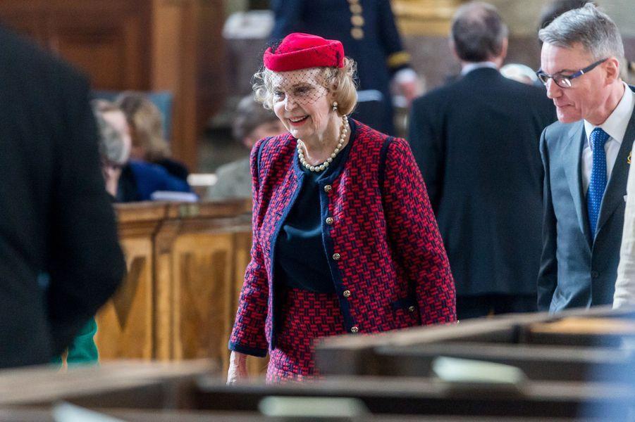 La comtesse Marianne Bernadotte à Stockholm, le 22 avril 2016