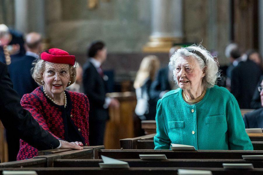 La comtesse Marianne Bernadotte et Dagmar von Arbin à Stockholm, le 22 avril 2016