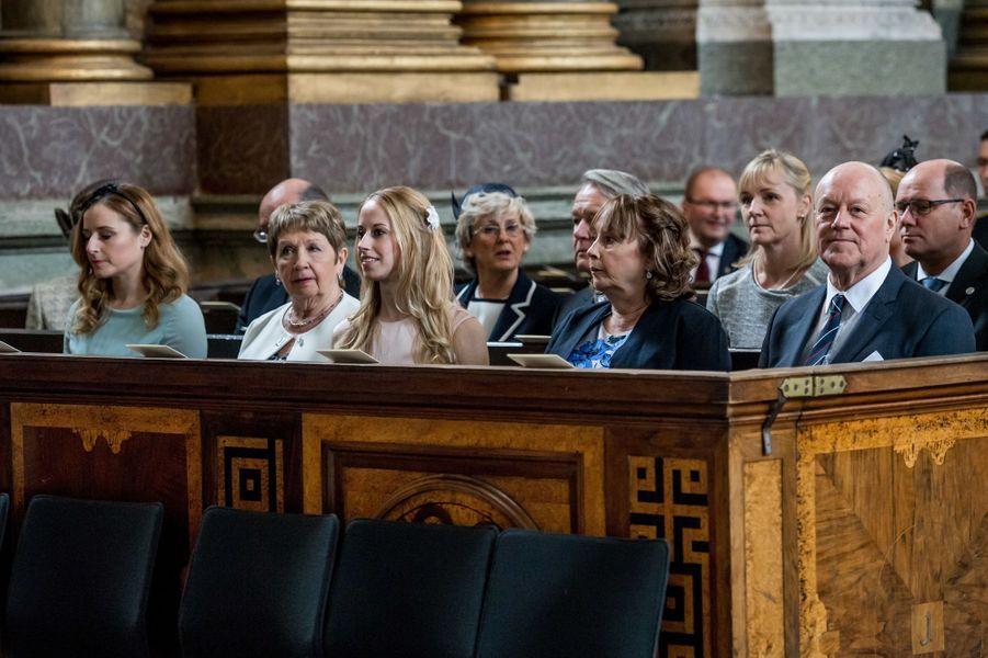 La famille de la princesse Sofia de Suède à Stockholm, le 22 avril 2016
