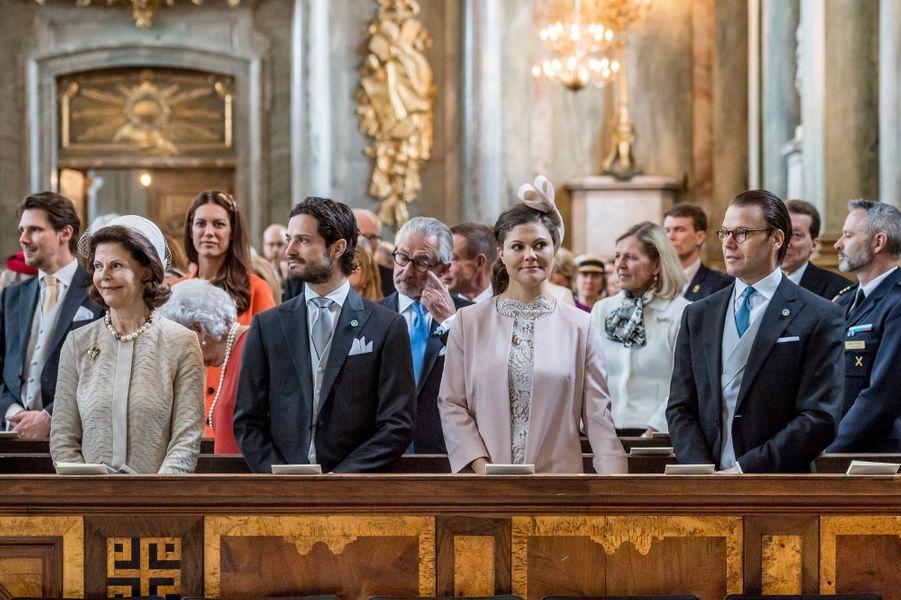 La famille royale de Suède à Stockholm, le 22 avril 2016
