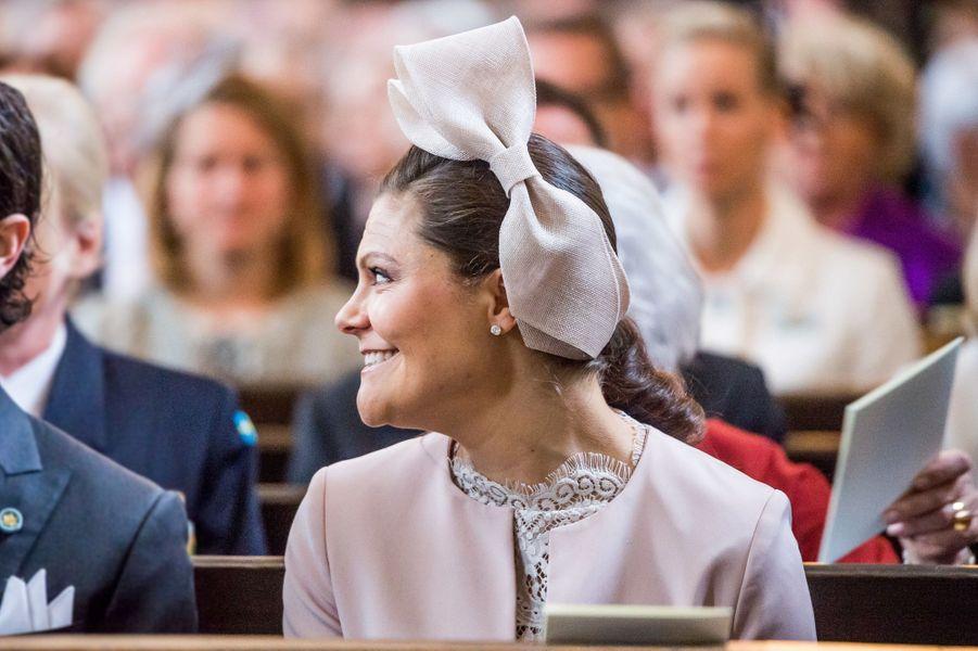 La princesse Victoria de Suède à Stockholm, le 22 avril 2016