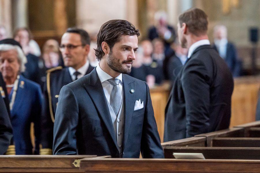 Le prince Carl Philip de Suède à Stockholm, le 22 avril 2016