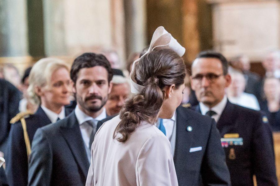 Le prince Carl Philip et la princesse Victoria de Suède à Stockholm, le 22 avril 2016