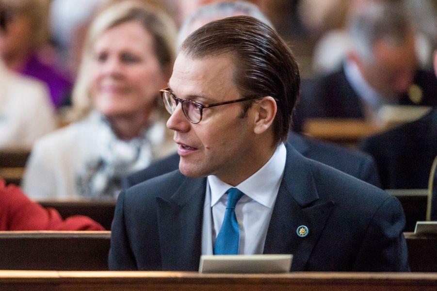 Le prince consort Daniel de Suède à Stockholm, le 22 avril 2016