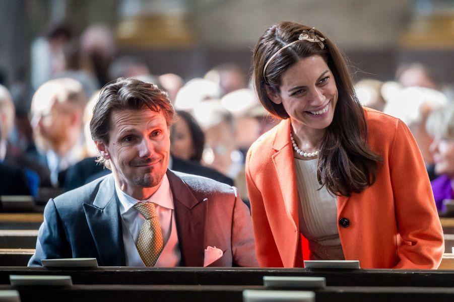 Patrick Sommerlath, neveu de la reine Silvia, et sa femme Maline à Stockholm, le 22 avril 2016