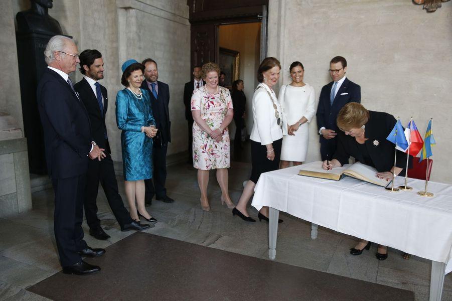 La famille royale de Suède à Stockholm, le 11 mai 2016