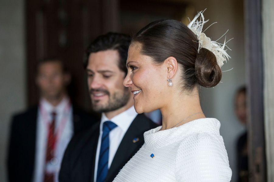 La princesse Victoria et le prince Carl Philip de Suède à Stockholm, le 11 mai 2016