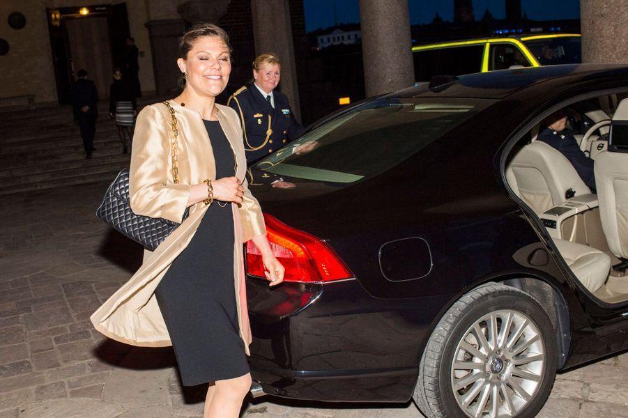 La princesse Victoria de Suède à Stockholm, le 30 mars 2016