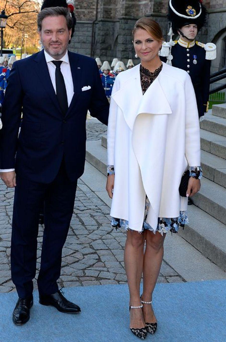 La princesse Madeleine de Suède et son mari Christopher O'Neill à Stockholm, le 29 avril 2016