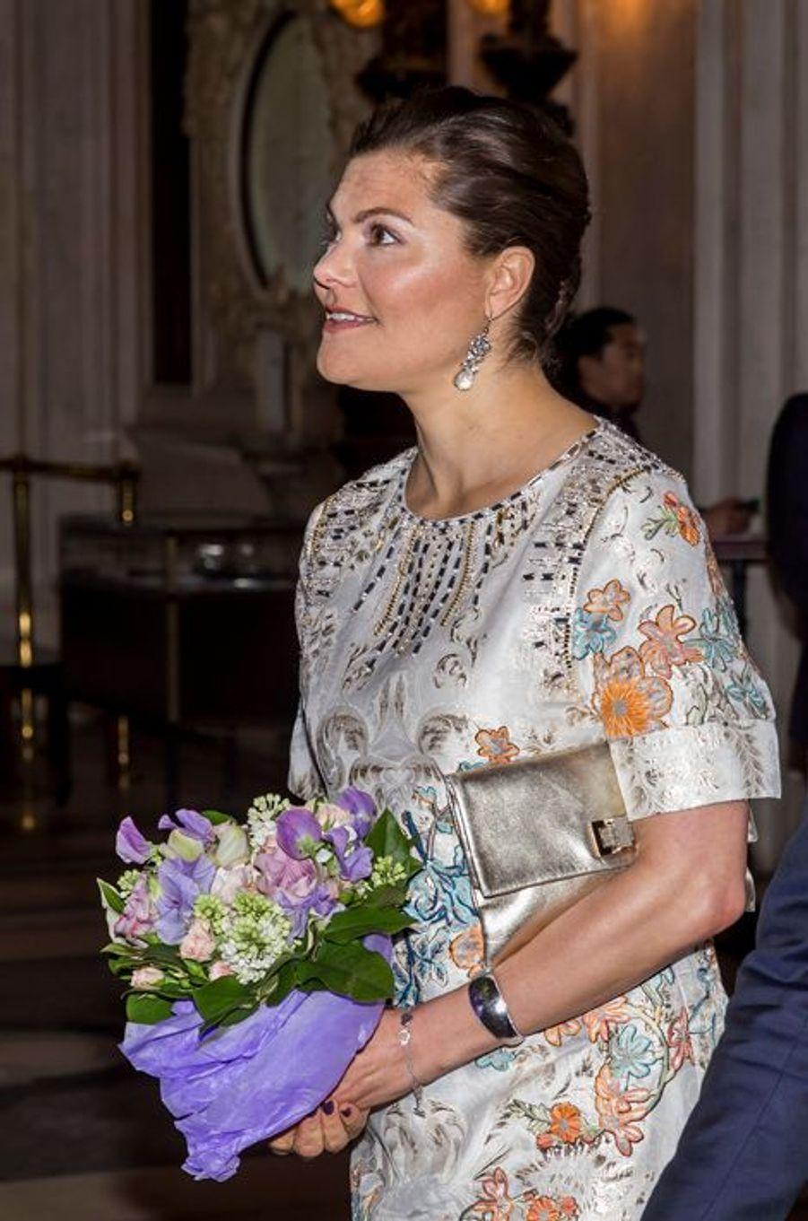 La princesse Victoria de Suède à Stockholm, le 29 avril 2016