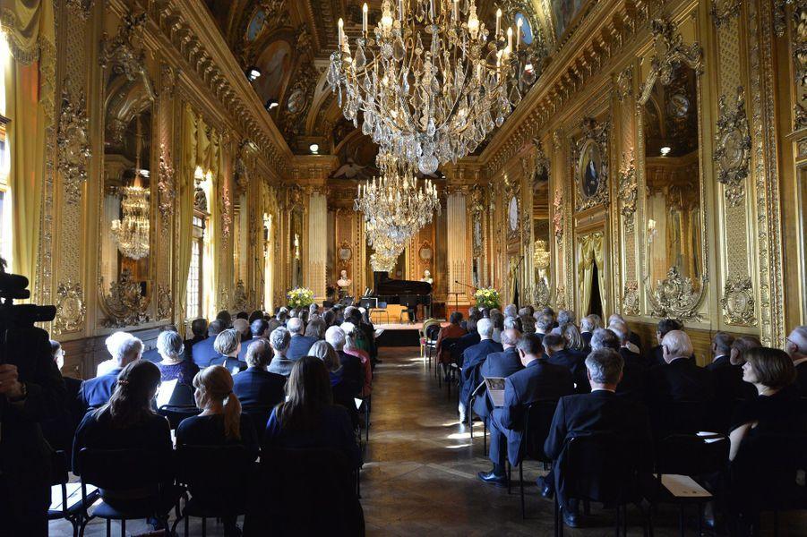 La réception à l'Opéra de Stockolm, le 29 avril 2016