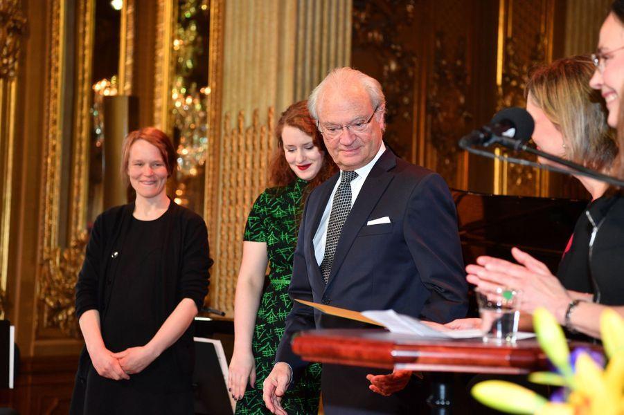 Le roi Carl XVI Gustaf de Suède à Stockholm, le 29 avril 2016