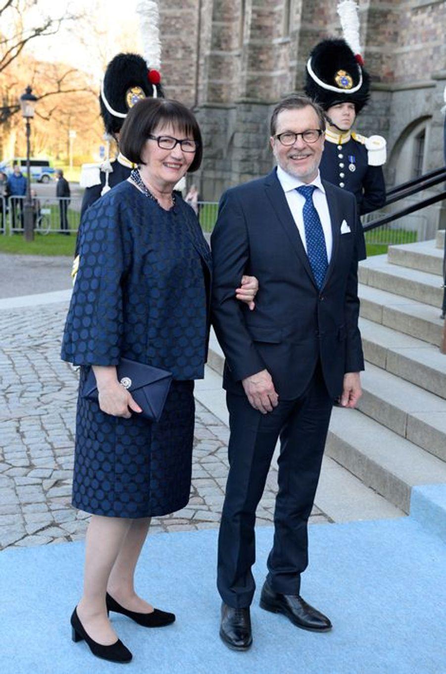 Les parents du prince consort Daniel de Suède à Stockholm, le 29 avril 2016