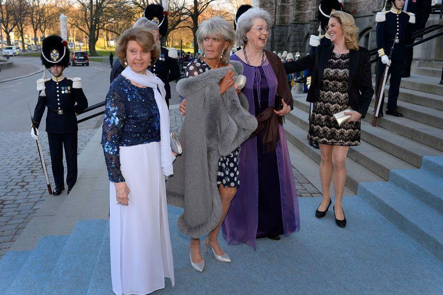 Les princesses Désirée, Birgitta et Christina de Suède, soeurs de Carl XVI Gustaf, à Stockholm le 29 avril 2016