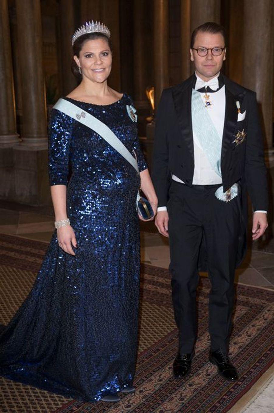 La princesse Victoria de Suède, avec le prince consort Daniel, le 11 décembre 2015