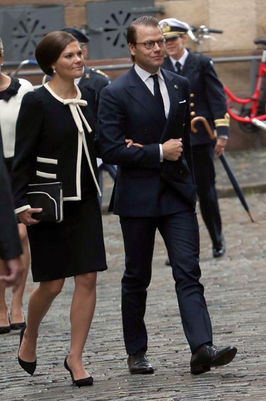 La princesse Victoria de Suède, avec le prince consort Daniel, le 15 septembre 2015
