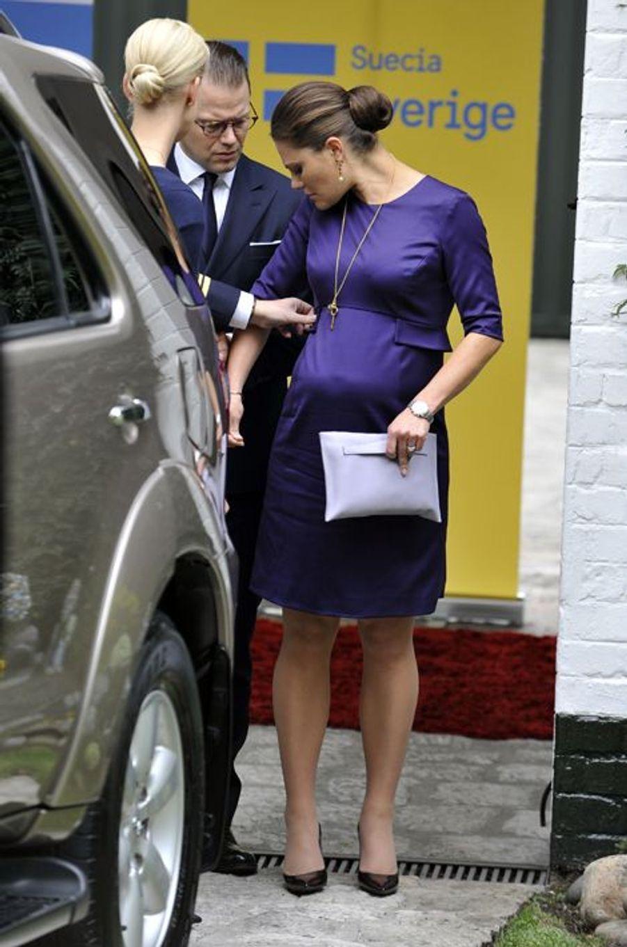 La princesse Victoria de Suède, avec le prince consort Daniel, le 22 octobre 2015