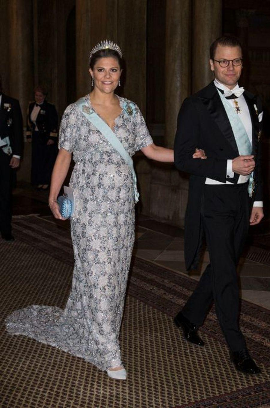 La princesse Victoria de Suède, avec le prince consort Daniel, le 3 février 2016