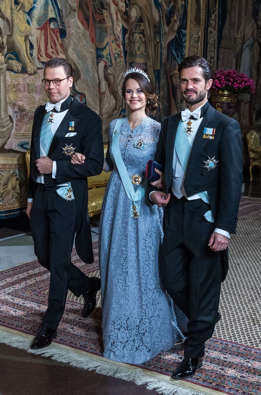 La princesse Sofia et les princes Daniel et Carl Philip de Suède à Stockholm, le 23 novembre 2017