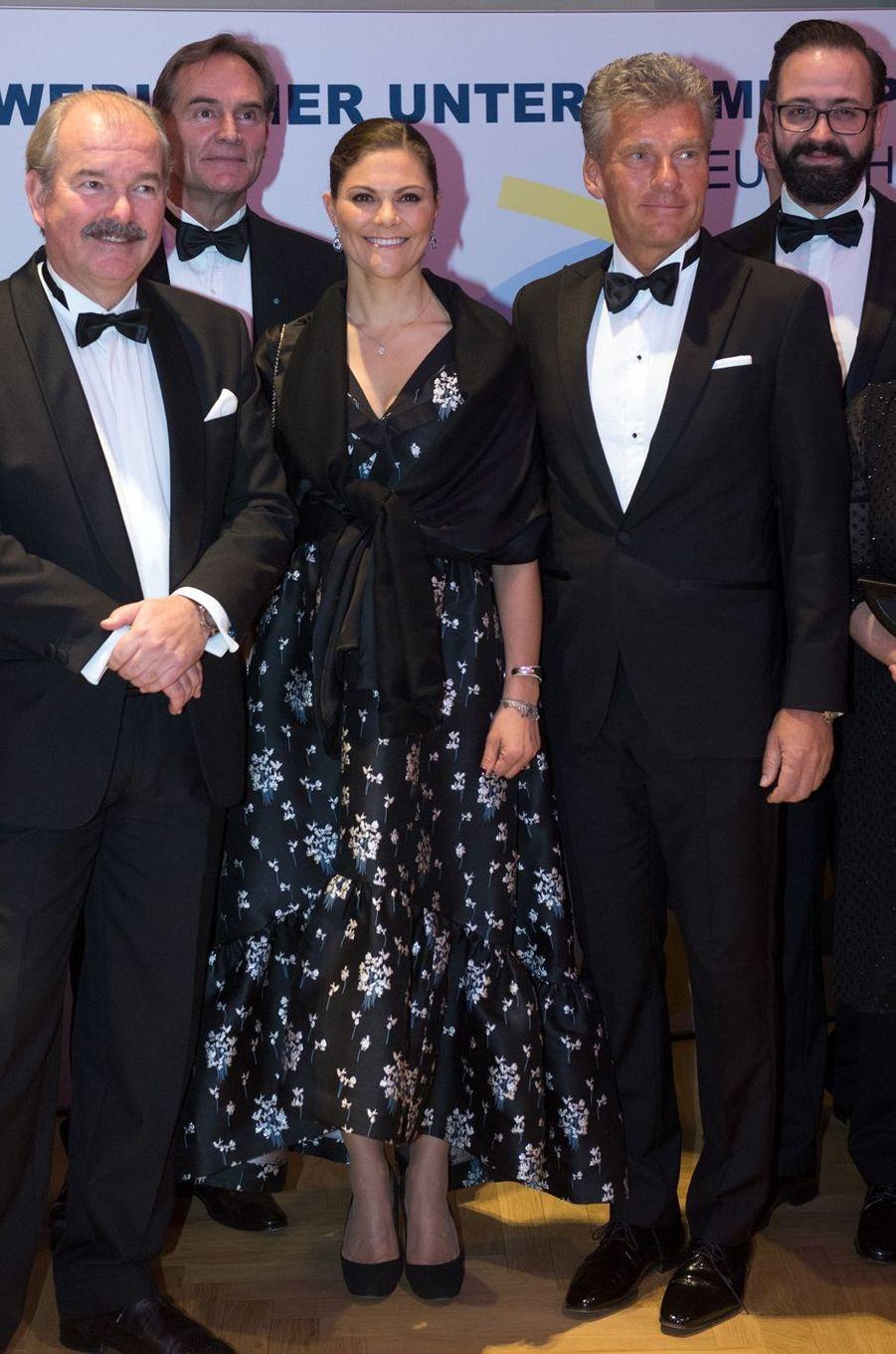 La princesse Victoria de Suède à Leipzig, le 23 novembre 2017