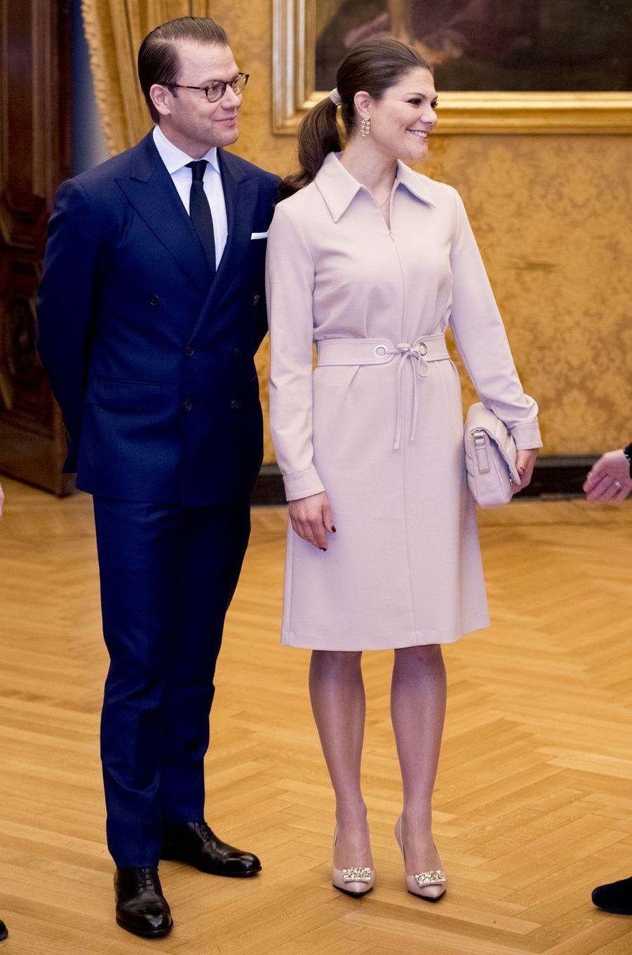 La princesse Victoria et le prince Daniel de Suède à Rome, le 15 décembre 2016
