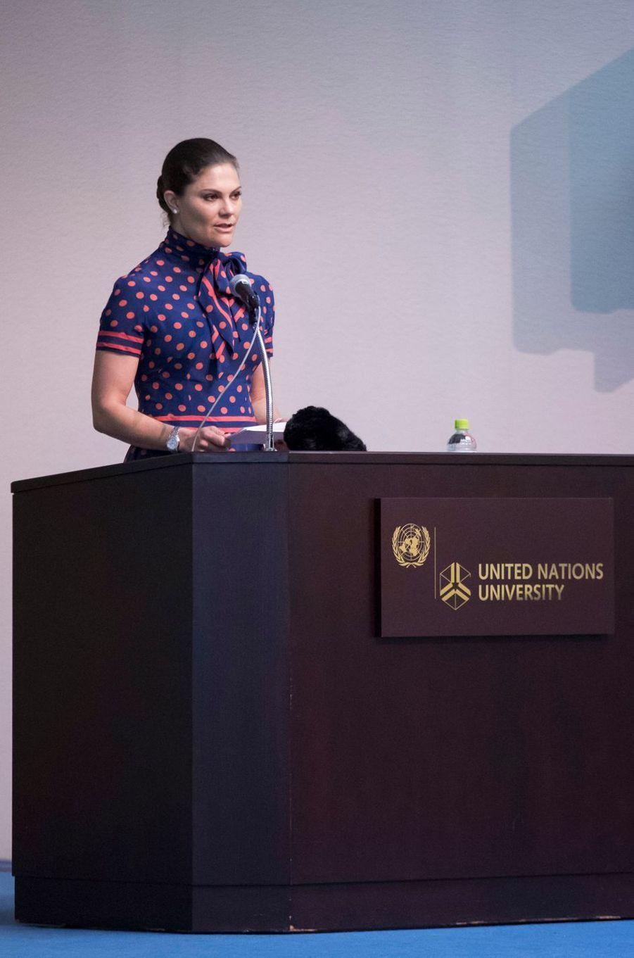 La princesse Victoria de Suède à Tokyo, le 19 avril 2017
