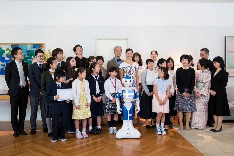 La princesse Victoria de Suède à Tokyo, le 20 avril 2017