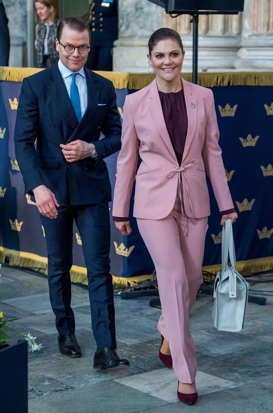 La princesse Victoria de Suède et le prince consort Daniel à Stockholm, le 11 avril 2018