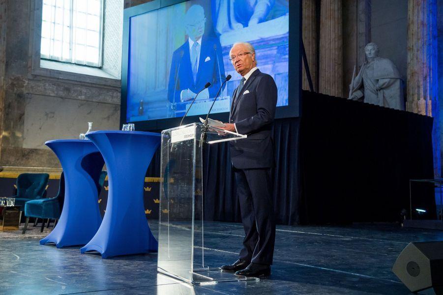 Le roi Carl XVI Gustaf de Suède à Stockholm, le 11 avril 2018