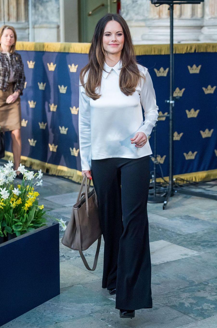 La princesse Sofia de Suède à Stockholm, le 11 avril 2018