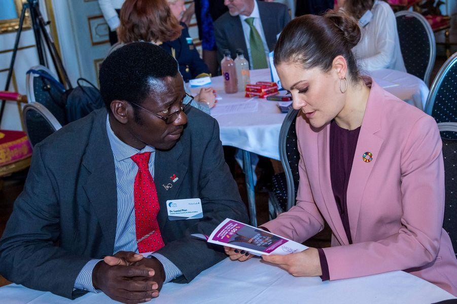 La princesse Victoria de Suède à Stockholm, le 11 avril 2018