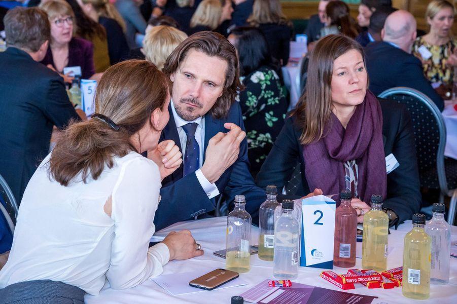 Patrice Sommerlath, neveu de la reine Silvia de Suède, à Stockholm le 11 avril 2018