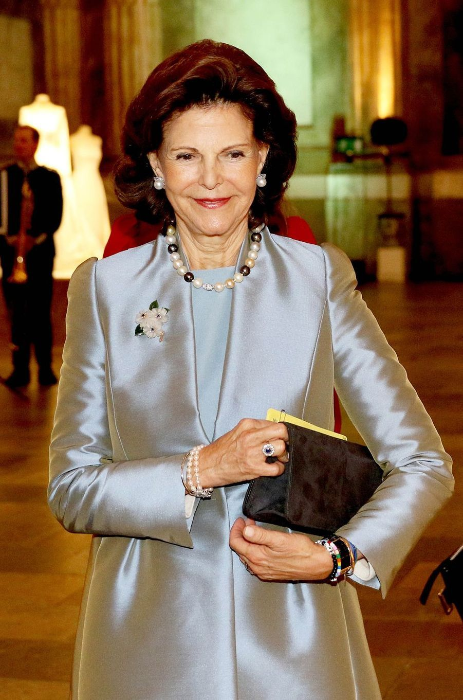 La reine Silvia de Suède à Stockholm, le 17 octobre 2016