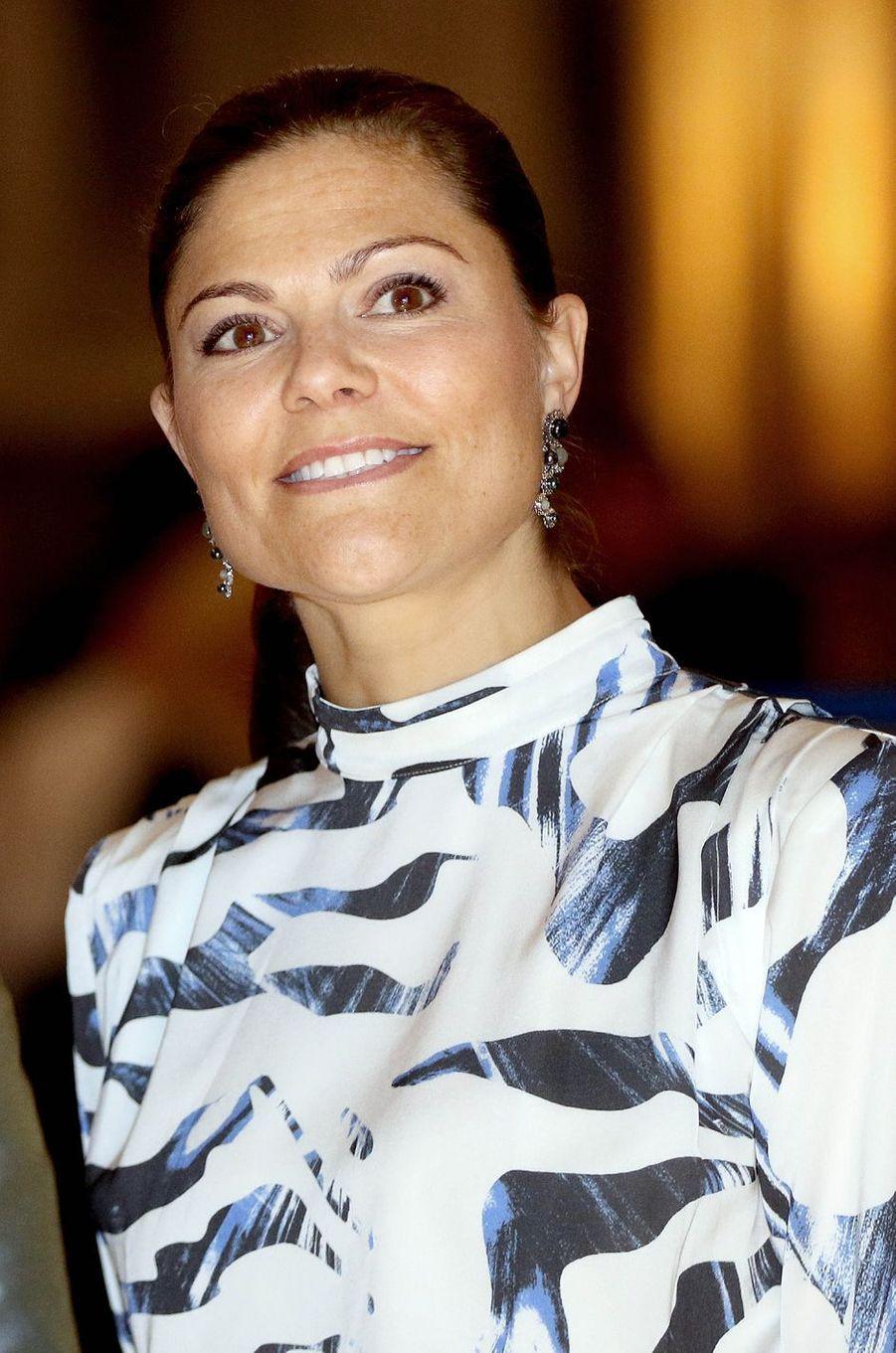 La princesse Victoria de Suède à Stockholm, le 17 octobre 2016