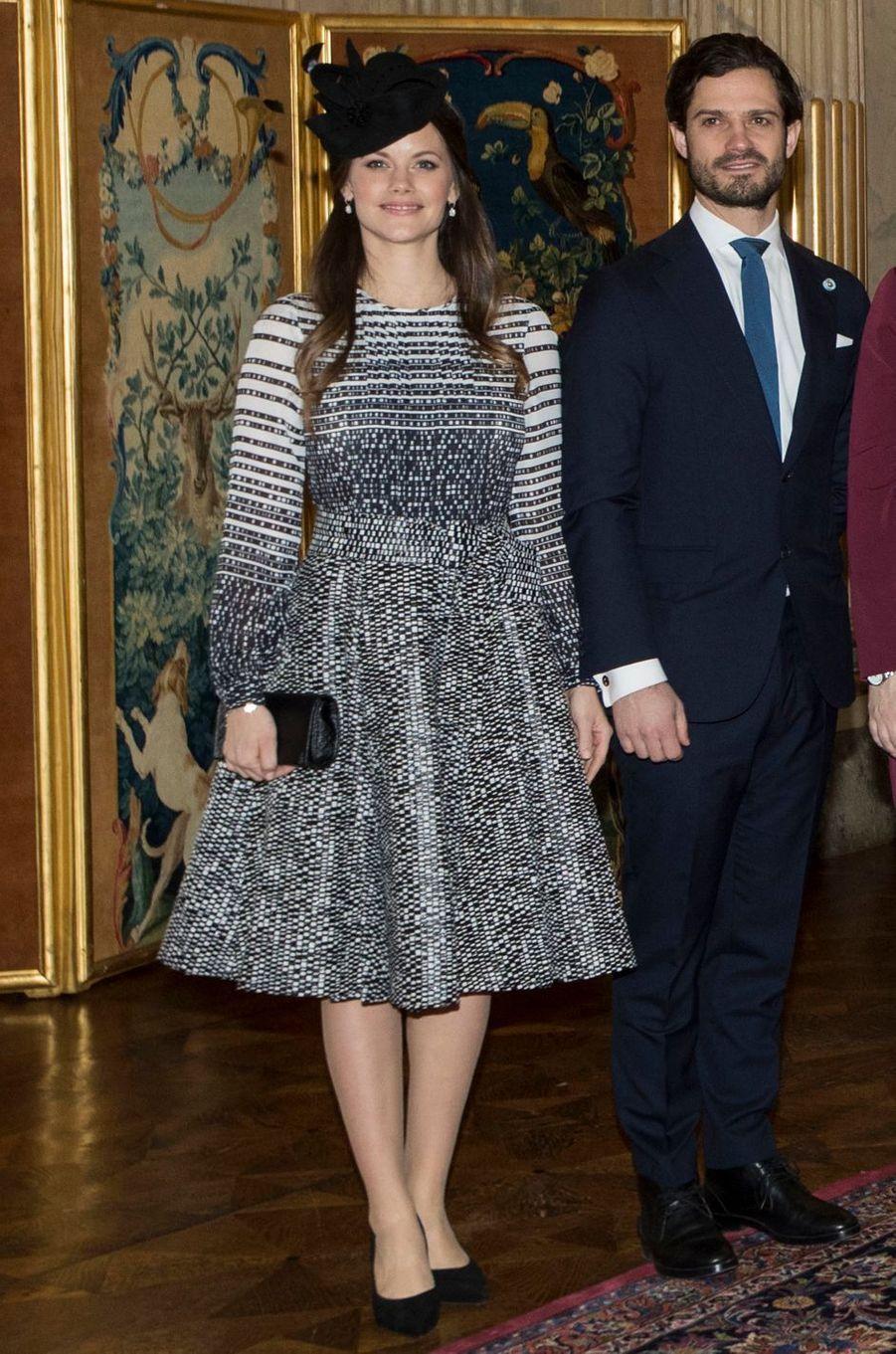 La princesse Sofia et le prince Carl Philip de Suède à Stockholm, le 17 janvier 2018