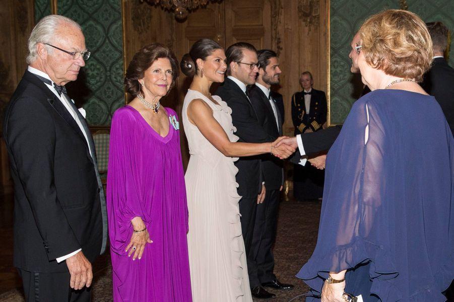La princesse Victoria de Suède avec la famille royale, à Stockholm le 22 septembre 2017