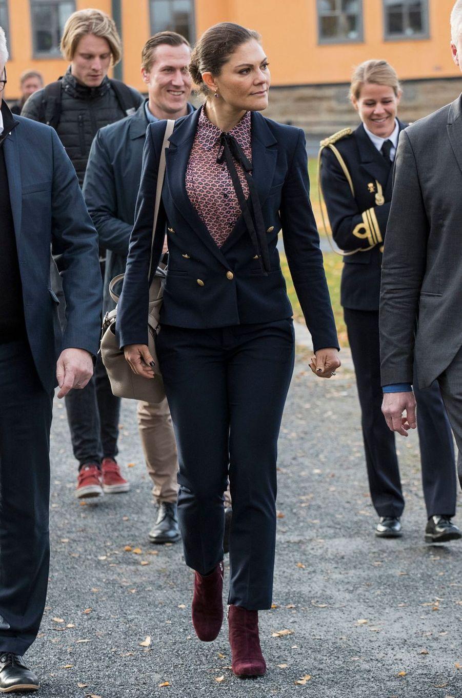 La princesse Victoria de Suède à Östersund, le 13 octobre 2017