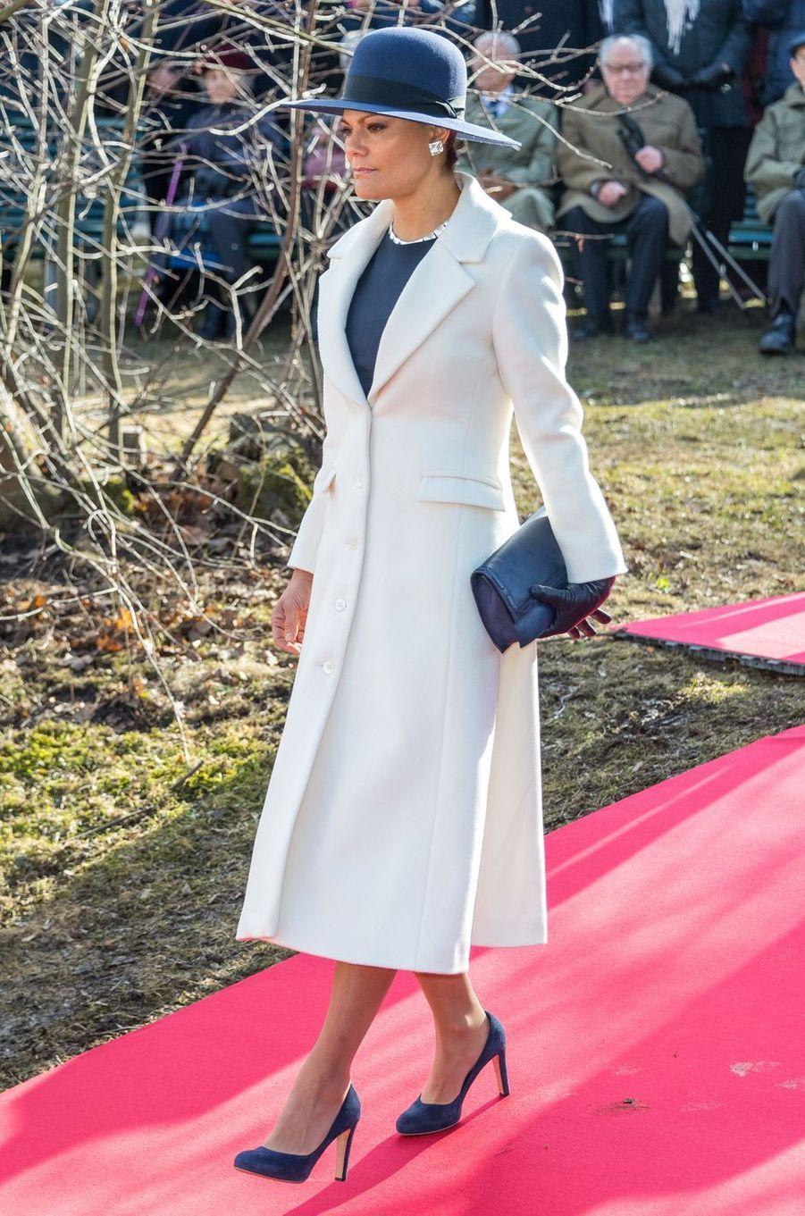 La princesse héritière Victoria de Suède à Stockholm, le 13 mars 2017
