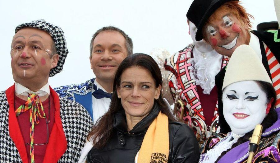 Présidente du jury, Stéphanie de Monaco était bien sûr présente à l'ouverture du 34e festival du cirque de Monaco.