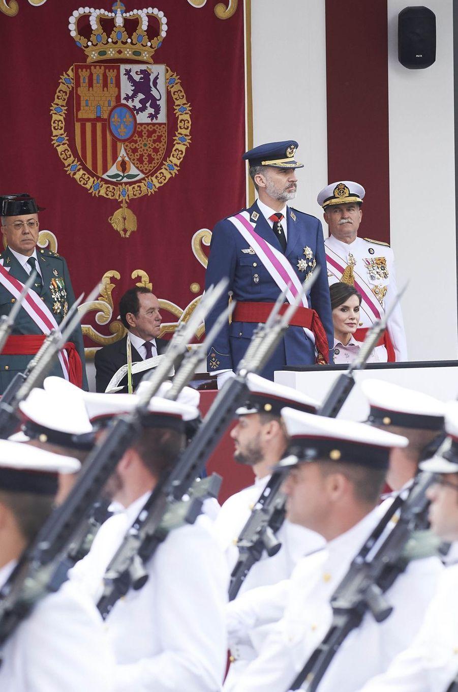 La reine Letizia et le roi Felipe VI d'Espagne à Logroño, le 25 mai 2018