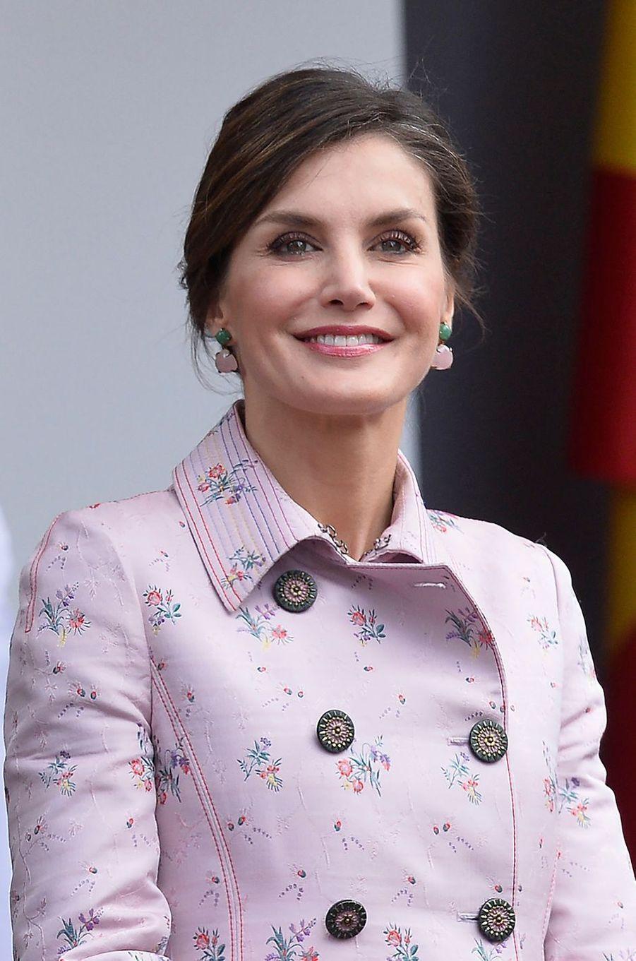 La reine Letizia d'Espagne à Logroño, le 25 mai 2018