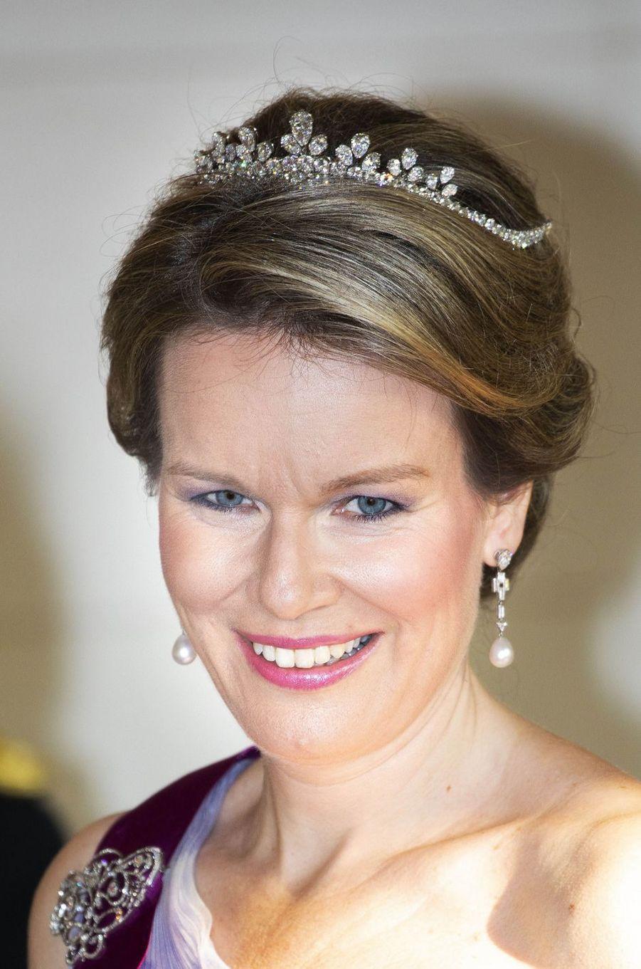La reine Mathilde de Belgique à Bruxelles, le 27 juin 2018