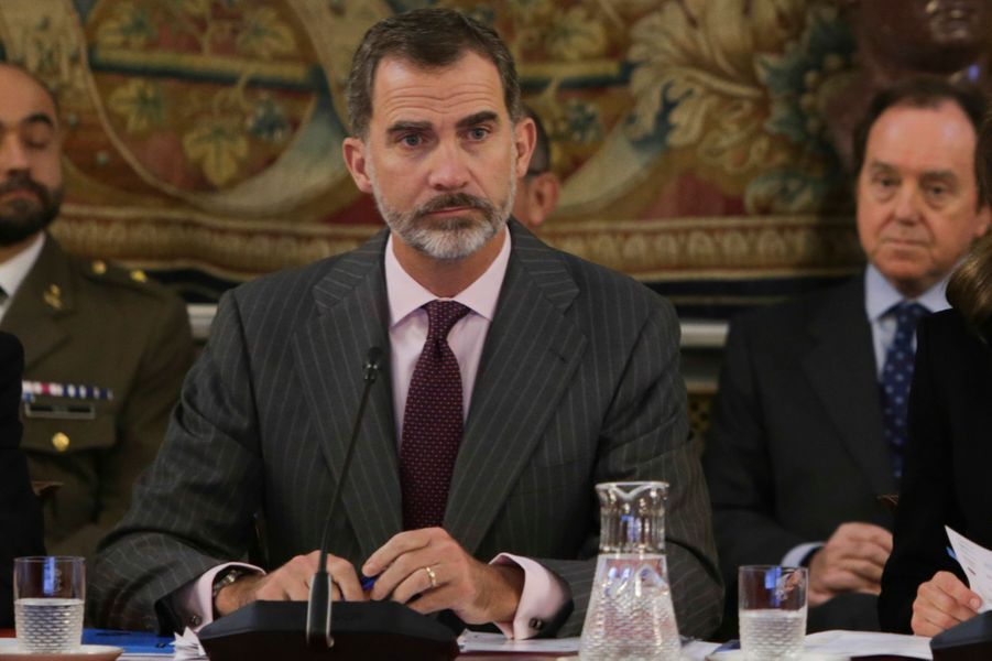 Le roi Felipe VI d'Espagne à Madrid, le 1er décembre 2017