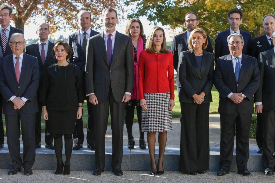 Le roi Felipe VI et la reine Letizia d'Espagne à Madrid, le 30 novembre 2017