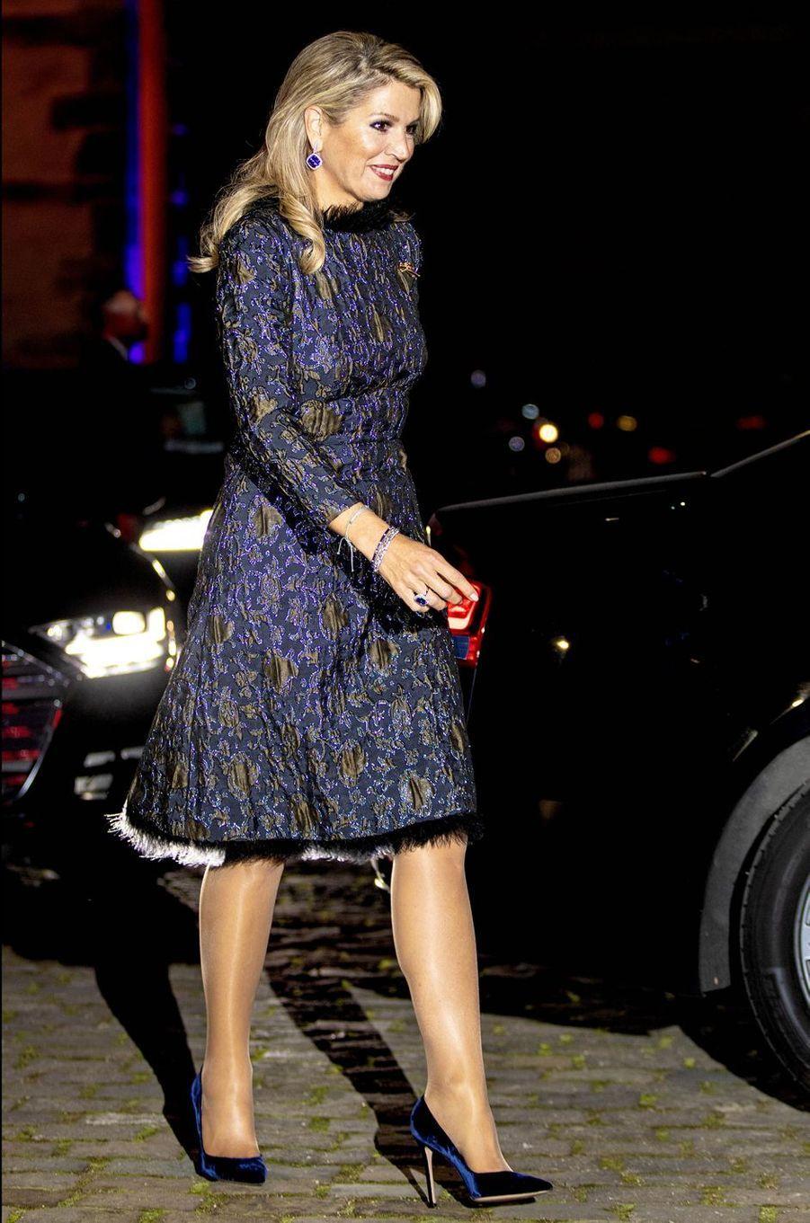 La reine Maxima des Pays-Bas en Allemagne, le 10 octobre 2018
