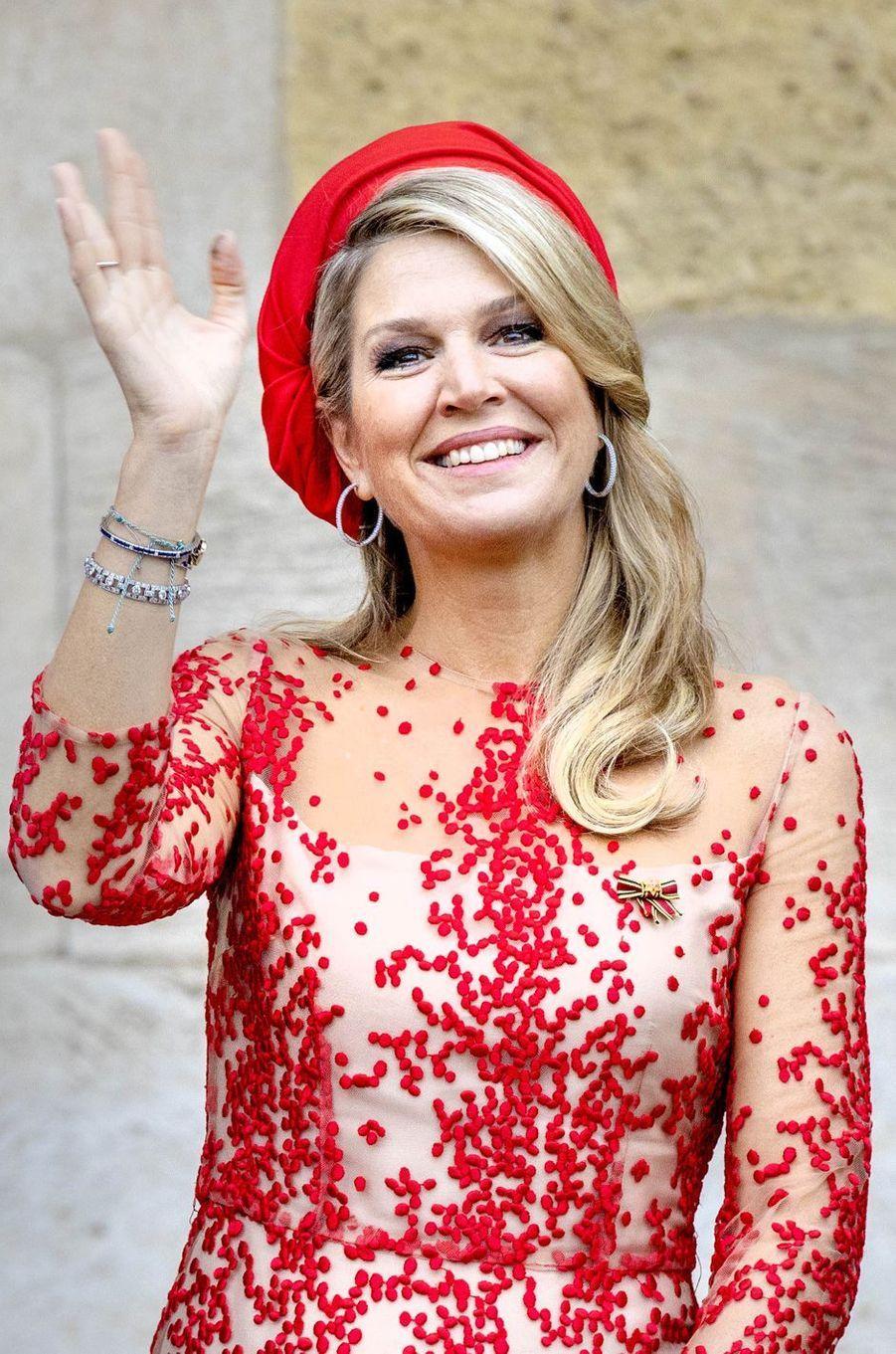 La reine Maxima des Pays-Bas en Allemagne, le 11 octobre 2018