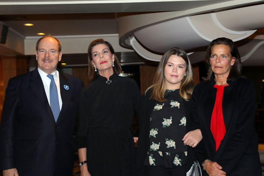 Albert II de Monaco, Caroline de Hanovre, Camille Gottlieb et Stéphanie de Monaco, samedi soir.