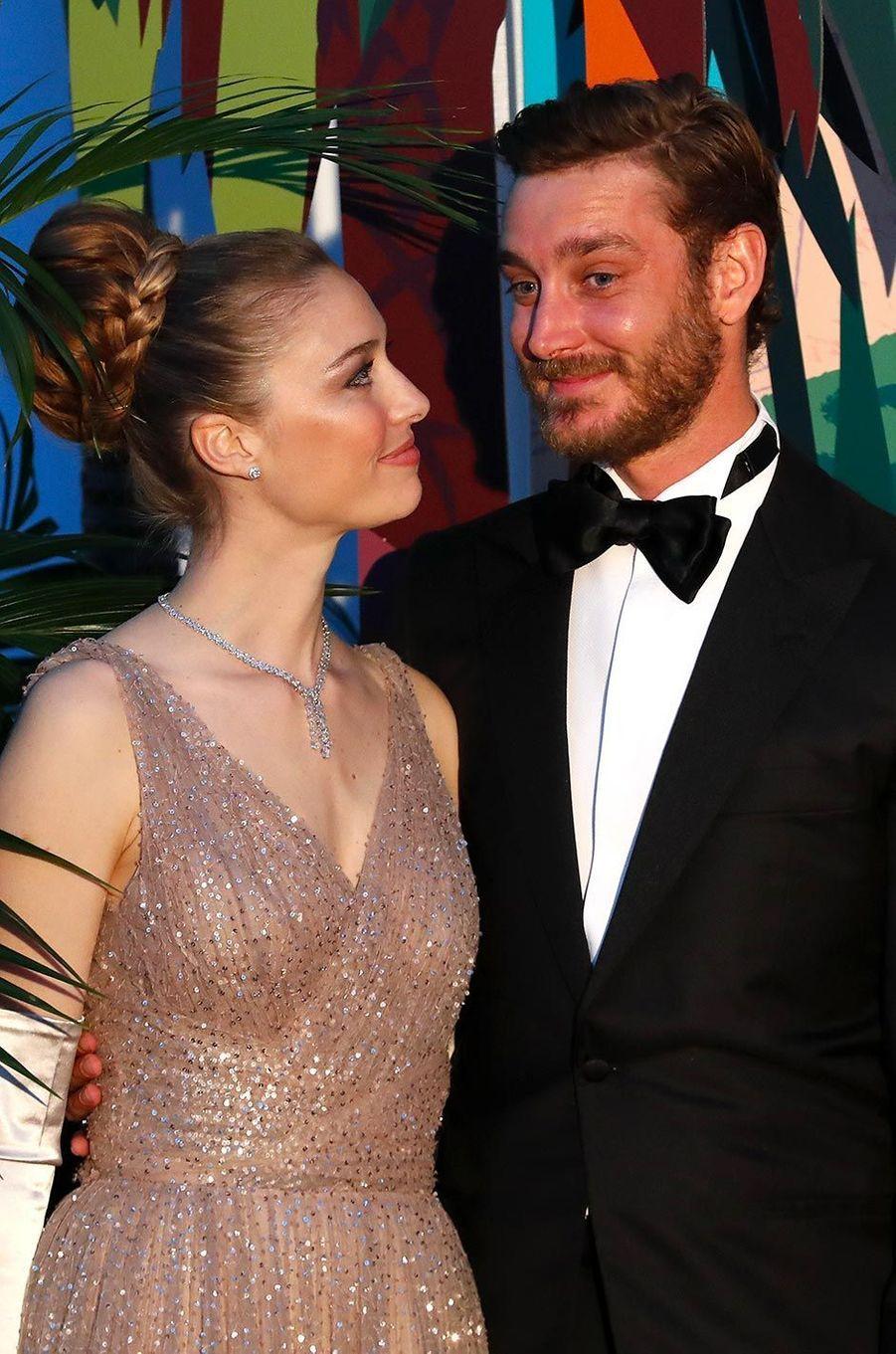 Beatrice Borromeo et Pierre Casiraghi au Bal de la Rose, au Sporting Monte-Carlo, le 30 mars 2019.